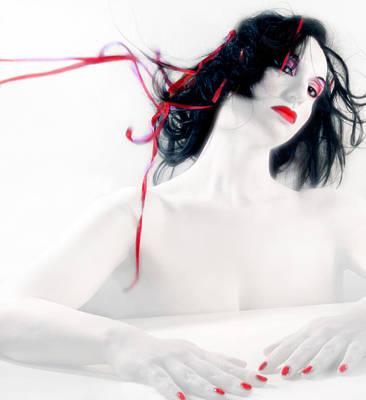 The Red Breeze - Self Portrait Art Print