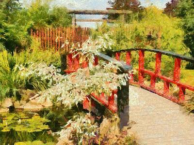 Photograph - The Red Bridge by Dorothy Berry-Lound