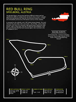Photograph - The Red Bull Ring Circuit by Mark Rogan