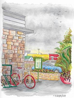 The Red Bycicle In The Farmers Market, 3rd And Fairfax, Los Angeles, Ca Original by Carlos G Groppa