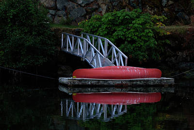 Photograph - The Red Canoe by Keith Boone