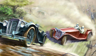 The Red Car Art Print by Nicholas Bockelman