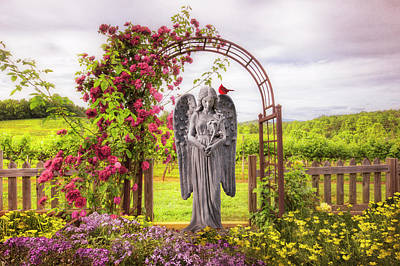 Photograph - The Red Cardinal by Debra and Dave Vanderlaan