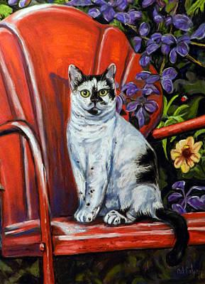 The Red Chair  Original by Cat Culpepper