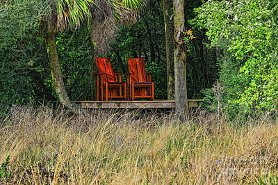 Photograph - The Red Chairs by Deborah Benoit