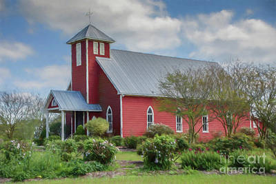 Photograph - The Red Chapel by Teresa Wilson