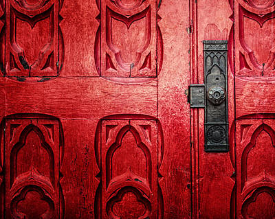 Downtown Pittsburgh Photograph - The Red Church Door by Lisa Russo
