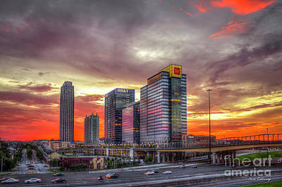 Photograph - The Red Clouds Sunset Midtown Atlanta Cityscape Art by Reid Callaway