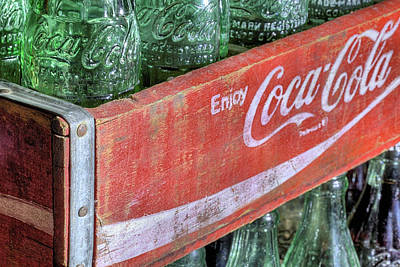 Photograph - The Red Coke Crate by JC Findley