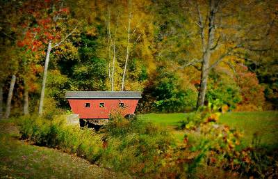 Photograph - The Red Covered Bridge by Diana Angstadt