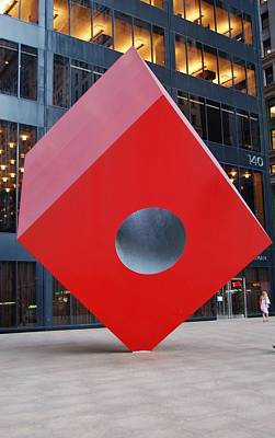 Photograph - The Red Cube by Christopher James