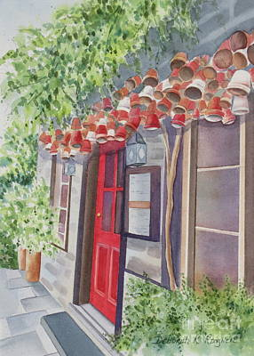 Store Fronts Painting - The Red Door by Deborah Ronglien