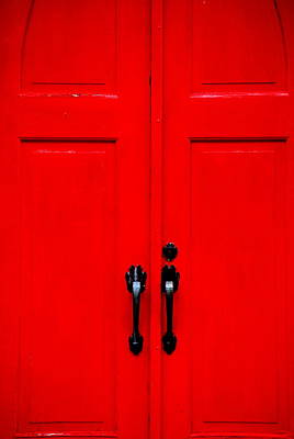 Photograph - The Red Door by Emily Stauring