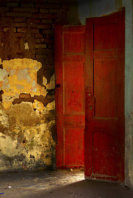 Photograph - The Red Door by Ken Ketchum