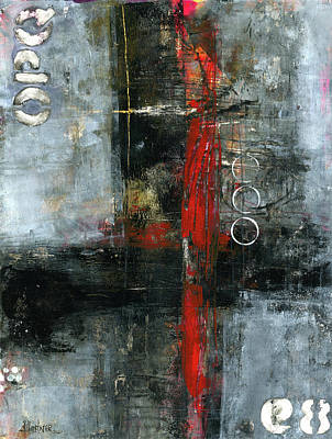 Mixed Media - The Red Door by Patricia Lintner