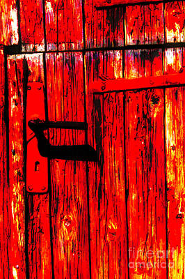 Photograph - The Red Door by Rick Bragan