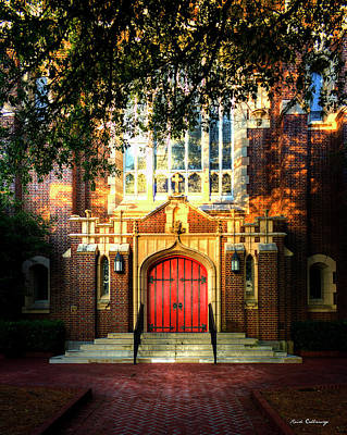 Photograph - The Red Door St Luke's Episcopal Church Art by Reid Callaway