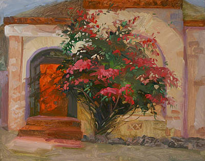Betty Billups Painting - The Red Door - Catalina Island by Betty Jean Billups