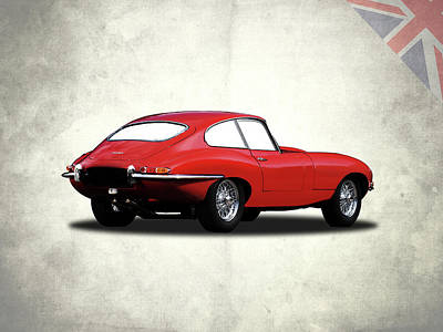 The Red E-type Print by Mark Rogan