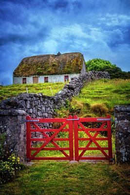 The Red Farm Gate In  Ireland Art Print