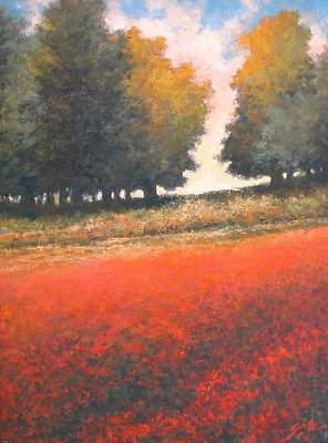 Wall Art - Painting - The Red Field #2 by Jim Gola