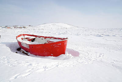 Photograph - The Red Fishing Boat by Nick Mares