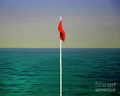 Photograph - The Red Flag by Edmund Nagele