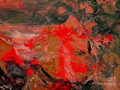 Painting - The Red Garden by Nancy Kane Chapman