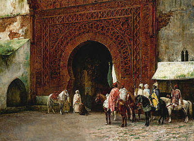 Painting - The Red Gate by Edwin Lord Weeks