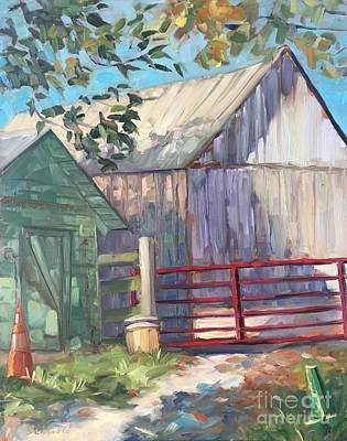 Painting - The Red Gate by Lynne Schulte