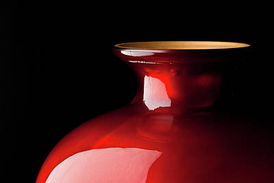 Photograph - The Red Glass Vase by  Onyonet  Photo Studios