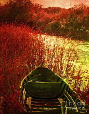 The Red Grass Of Autumn Art Print
