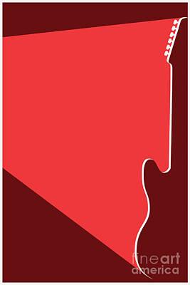 Digital Art - The Red Guitar by Benjamin Harte
