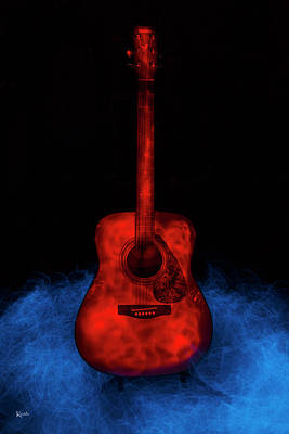 Photograph - The Red Guitar by Keith Hawley