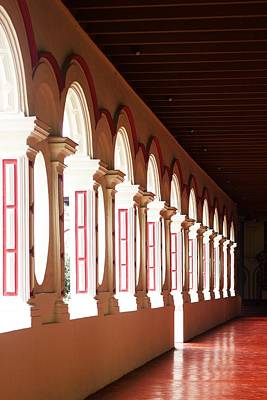 Photograph - The Red Hall by Debi Starr
