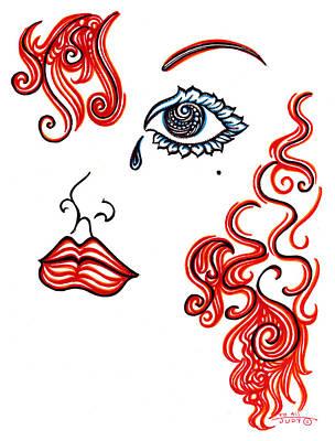 The Red Head Art Print