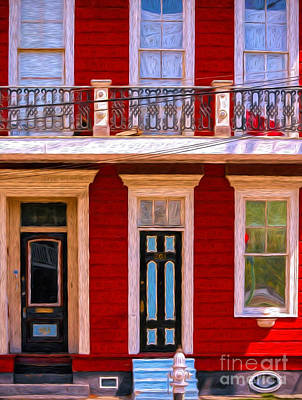 Photograph - The Red House-nola-faubourg Marigny by Kathleen K Parker