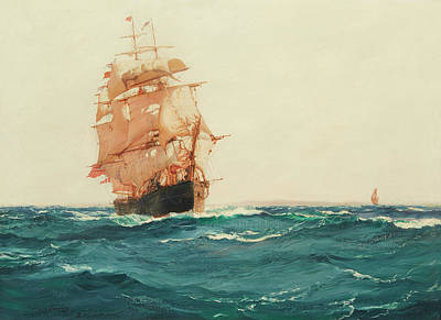 Sphere Painting - The Red Jacket by Montague Dawson