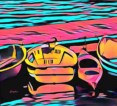 Photograph - The Red Kayak Morro Bay California Detail by Barbara Snyder