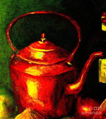Painting - The Red Kettle by Hazel Holland