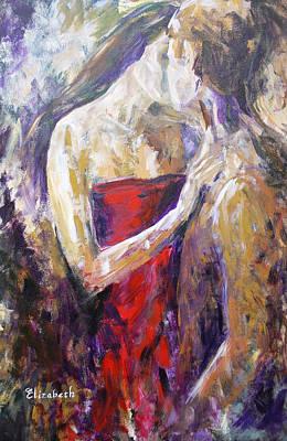 The Red Kiss Art Print by Beth Maddox
