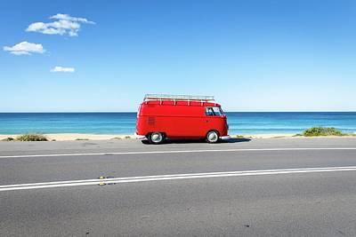 Photograph - The Red Kombi by Simon Rae