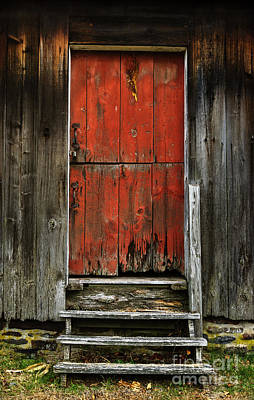 Photograph - The Red Mill Door by Debra Fedchin