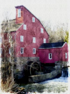 Photograph - The Red Mill Museum by Marcia Lee Jones