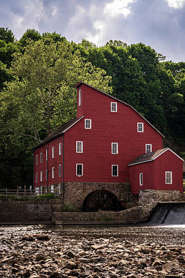 Old Mill Scenes Photograph - The Red Mill New Jersey by Terry DeLuco