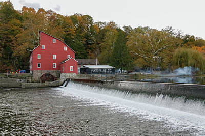 Photograph - The Red Mill Waterfall by Kathleen McGinley