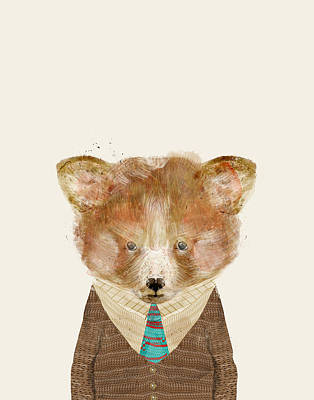 Panda Illustration Painting - The Red Panda by Bri B