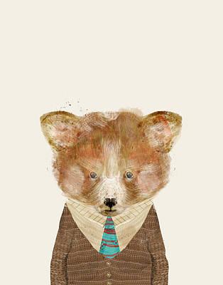 Red Panda Painting - The Red Panda by Bleu Bri