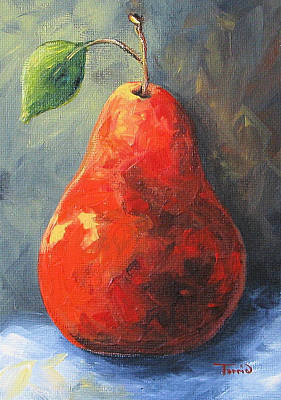 The Red Pear II  Art Print by Torrie Smiley