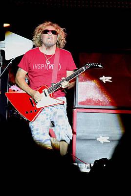 Van Halen Photograph - The Red Rcoker by Dennis Jones